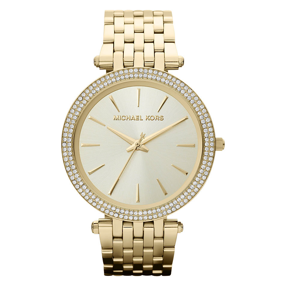 Michael Kors Darci Gold Tone Glitz Watch MK3191