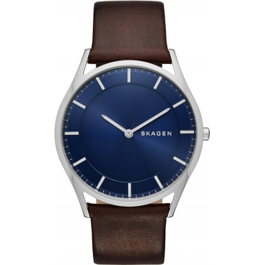 Orologio Skagen Holst Blue Dial Leather Men's SKW6237